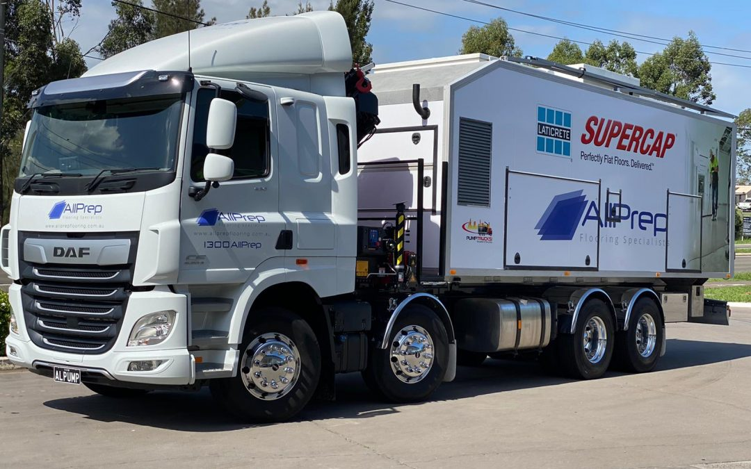 AllPrep Flooring Specialists Pty Ltd partner with LATICRETE SUPERCAP to bring the revolutionary SUPERCAP Pump Truck system to Australia