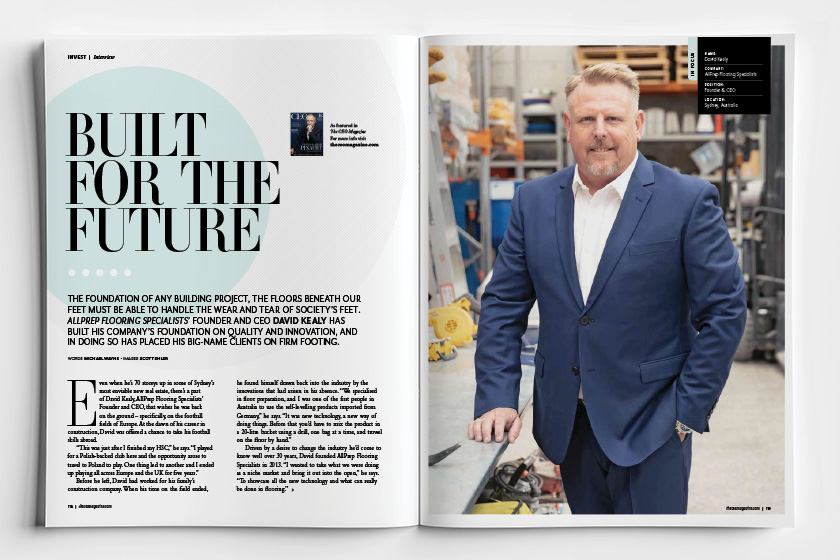 David Kealy featured in CEO Magazine
